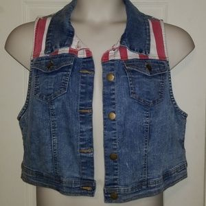 Stars And Stripes Cropped Vest